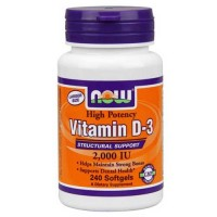 Now Foods Vit D-3 2000IU 240 Softgels