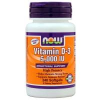 Now Foods Vit D-3 5000 IU 240 Softgels