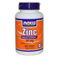 Now Foods Zinc Gluconate 50 Mg 250 Tablets