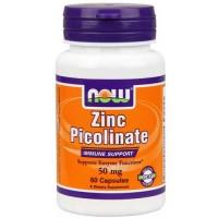Now Foods Zinc Picolinate 50mg 60 Caps