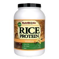 NutriBiotic Rice Protein Vegan Vanilla Flavored 3lb