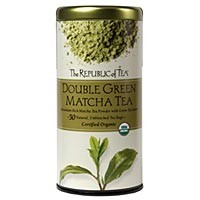 The Republic of Tea Double Green Matcha Tea 50 Natural Unbleached Tea Bags