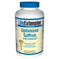 Life Extension 88.5mg Saffron Extract w/Satiereal 60ct  + Free Hunger Chews