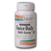 Solaray Twice Daily Multi Energy Iron-Free Multi Vitamin 120 Caps