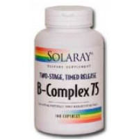 Solaray B-Complex 75 Two Staged, Timed Released 100 Caps