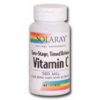 Solaray Vitamin C Two-Staged, Timed Release 500mg 100 Caps