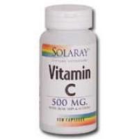 Solaray Vitamin C w/ Rose Hips, Acerola, Bioflavanoids 250 Caps