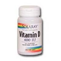 Solaray Vitamin D 400 IU 120 Softgels
