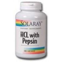 Solaray HCl w/ Pepsin 180 Caps
