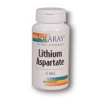 Solaray Lithium Asparatate 5mg 100 Caps