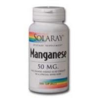 Solaray Manganese 50mg 100 Caps