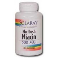 Solaray No Flush Niacin 500mg 100 Caps