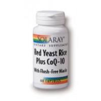 Solaray Red Yeast Rice plus CoQ10 w/ Flush-free Niacin 60 Caps