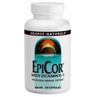 Source Naturals EpiCor with Vitamin D-3 500mg 120 Capsules