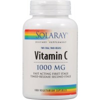 Solaray Two Stage Time Released 1000mg Vitamin C 100 Tabs