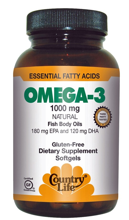 Country life omega 3 fish oil essential fatty acids for Omega 3 fatty acid fish