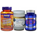 3 Effective Fat Melters Stack (CLA, Pyruvate, MCT Coconut Oil) Stack