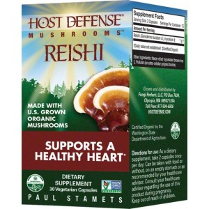 Fungi Perfect Host Defense Reishi 30 Vege Caps