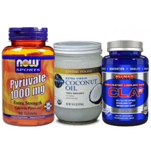 3 Effective Fat Melters Stack (CLA, Pyruvate, MCT Oil) Stack