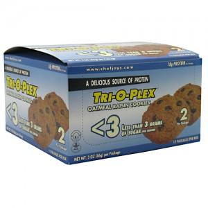 Chef Jay's Tri-O-Plex Low Sugar Cookies Oatmeal Raisin 3 oz. (86g)