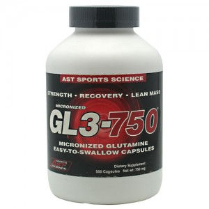 AST GL3-750mg Micronized Glutamine 500 Caps