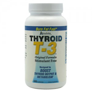 Absolute Nutrition Thyroid T3 180 Caps