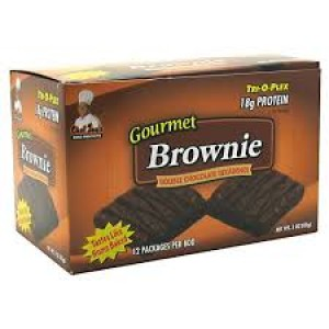 Chef Jay's Tri-O-Plex Gourmet Brownie Double Chocolate Decadence 12/Box