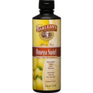 Barlean's Omega Swirl Omega-3 Fish Oil Supplement Lemon Zest 16 Fl Oz