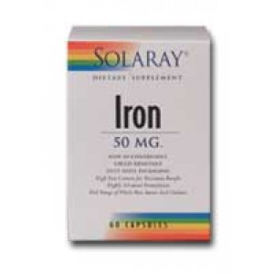 Solaray Iron Blister-Pack 50mg 60 Caps