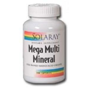 Solaray Mega Multi Mineral 200 Caps