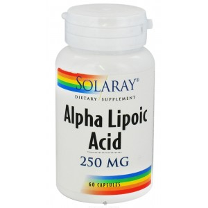 Alpha Lipoic Acid is water and oil-soluble for maximum effect in all tissues. Solaray Alpha Lipoic Acid works synergistically with antioxidant vitamins at a cellular level. Solaray Alpha Lipoic Acid has distinctive free-radical scavenging properti