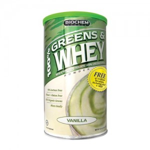 Biochem Greens & Whey Powder Vanilla 10.3 oz