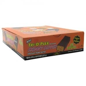 Chef Jay's Tri-O-Plex Skinny Dipped Bar Chocolate Peanut Butter 12 - 3.5oz (100g) Bars
