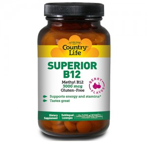 Country Life Superior B-12 3000mcg 50 Lozenges