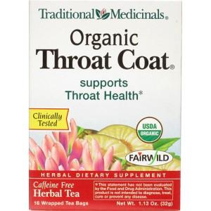 Traditional Medicinals Throat Coat Tea 16 Bags
