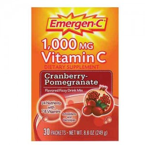 Alacer Emergen-C Cranberry Pomegranate 30 Pack