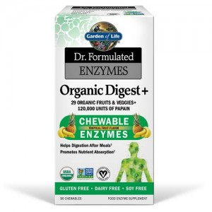 Dr. Formulated Enzymes Organic Digest+ 90 Chewables