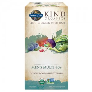 Garden of Life Kind Organics Men's Multi 40+ 120 Tabs