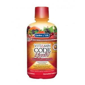 Garden of Life Vitamin Code Liquid New Fruit Punch Flavor