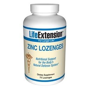 Life Extension Zinc Lozenges 23mg 75 Lozenges