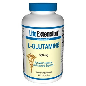 Life Extension L-Glutamine 500mg 100 Caps