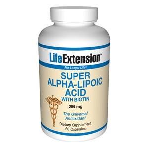 Life Extension Super Alpha Lipoic Acid with Biotin 250mg 60 Caps