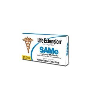Life Extension SAMe (S-adenosylmethionine) 400 mg 20 TABS