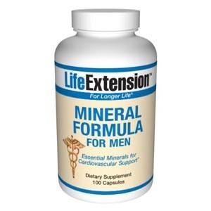 Life Extension Mineral Formula For Men 100 Caps