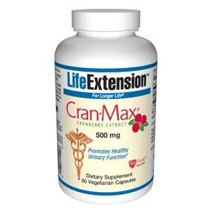 Life Extension Cran-max Cranberry Extract 500mg 60 Vegecaps