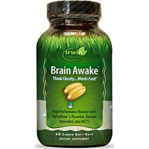 Irwin Naturals Brain Awake 60 Liquid Soft Gels