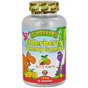 Kal Elderberry Yummy Gummy Tutti Frutti 60 Gummies