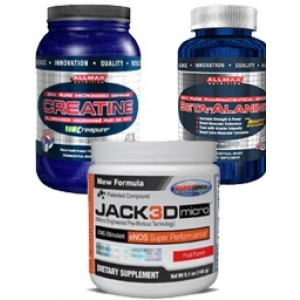 Jack3d Micro Muscle Stack (Jack3d Micro, Creatine, Beta Alanine)