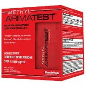 MuscleMeds Methyl Arimatest 120 Caps + 60 SubZorb Tablets