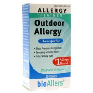 Natra-Bio Bioallers Outdoor Allergy 60 Tablets